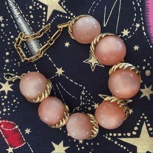 Vintage Pink Moonstone Bracelet